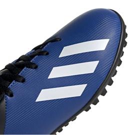 Buty piłkarskie adidas X 19.4 Tf Jr FV4662 niebieskie niebieskie 3