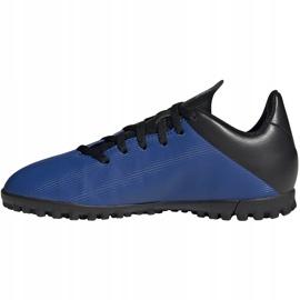 Buty piłkarskie adidas X 19.4 Tf Jr FV4662 niebieskie niebieskie 2
