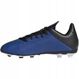 Buty piłkarskie adidas X 19.4 FxG Junior niebiesko-czarne EF1615 niebieskie niebieskie 1