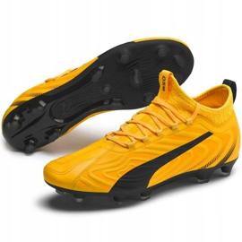 Buty piłkarskie Puma One 20.3 Fg Ag żółte 105826 01 3