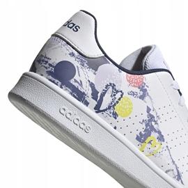Buty dla dzieci adidas Advantage K biało-kolorowe EG2000 4