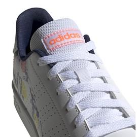 Buty dla dzieci adidas Advantage K biało-kolorowe EG2000 3