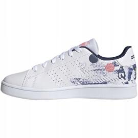 Buty dla dzieci adidas Advantage K biało-kolorowe EG2000 2