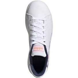 Buty dla dzieci adidas Advantage K biało-kolorowe EG2000 1