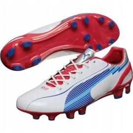 Buty piłkarskie Puma Evo Speed 1 Fg biało-czerwono-niebieskie 102527 01 białe białe 2