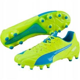 Buty piłkarskie Puma Evo Speed 1.4 Lth Fg żółto-niebieskie 103615 03 żółte żółte 2