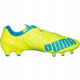 Buty piłkarskie Puma Evo Speed 1.4 Lth Fg żółto-niebieskie 103615 03 żółte żółte 1