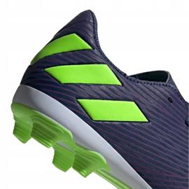 Buty piłkarskie adidas Nemeziz Messi 19.4 FxG Junior EF1816 fioletowe fioletowe 4