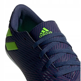 Buty piłkarskie adidas Nemeziz Messi 19.4 FxG Junior EF1816 fioletowe fioletowe 3