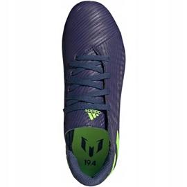 Buty piłkarskie adidas Nemeziz Messi 19.4 FxG Junior EF1816 fioletowe fioletowe 1