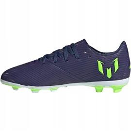 Buty piłkarskie adidas Nemeziz Messi 19.4 FxG Junior EF1816 fioletowe fioletowe 2
