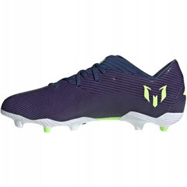 Buty piłkarskie adidas Nemeziz Messi 19.3 Fg EF1806 granatowe fioletowe 2