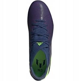 Buty piłkarskie adidas Nemeziz Messi 19.3 Fg EF1806 granatowe fioletowe 1
