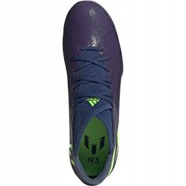 Buty piłkarskie adidas Nemeziz Messi 19.3 Tf EF1809 fioletowe wielokolorowe 1