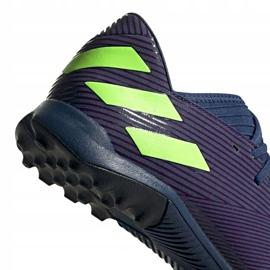 Buty piłkarskie adidas Nemeziz Messi 19.3 Tf EF1809 fioletowe wielokolorowe 4