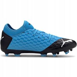Buty piłkarskie Puma Future 5.4 Fg Ag 105785 01 niebieskie niebieski,czarny 1