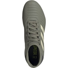 Buty piłkarskie adidas Predator 19.3 Fg Jr EF8215 szare 1