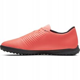 Buty piłkarskie Nike Phantom Venom Club Tf AO0579 810 pomarańczowe biały, pomarańczowy(łososiowy) 2