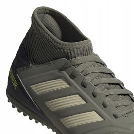 Buty piłkarskie adidas Predator 19.3 Tf Jr EF8220 zielone wielokolorowe 3