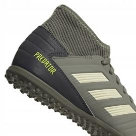 Buty piłkarskie adidas Predator 19.3 Tf Jr EF8220 zielone wielokolorowe 4