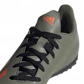Buty piłkarskie adidas X 19.4 Tf Jr zielone EF8378 3