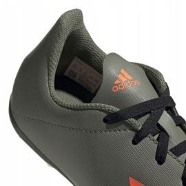 Buty piłkarskie adidas X 19.4 FxG Jr zielone EF8377 wielokolorowe szare 4