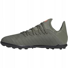 Buty piłkarskie adidas X 19.3 Tf Jr zielone EF8375 2