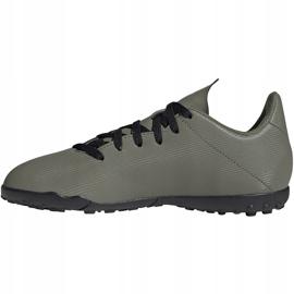 Buty piłkarskie adidas X 19.4 Tf Jr zielone EF8378 2