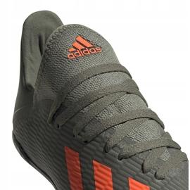 Buty piłkarskie adidas X 19.3 Tf Jr zielone EF8375 4
