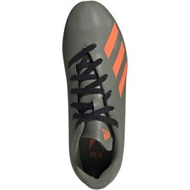 Buty piłkarskie adidas X 19.4 FxG Jr zielone EF8377 wielokolorowe szare 1