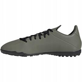 Buty piłkarskie adidas X 19.4 Tf zielone EF8370 szare 2