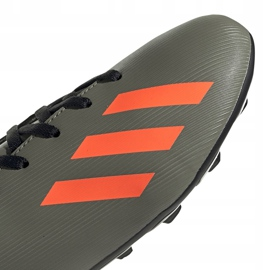 Buty piłkarskie adidas X 19.4 FxG Jr zielone EF8377 wielokolorowe szare 3