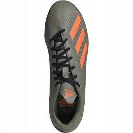 Buty piłkarskie adidas X 19.4 Tf zielone EF8370 szare 1
