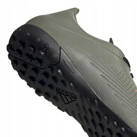 Buty piłkarskie adidas X 19.4 Tf zielone EF8370 szare 4