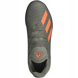Buty piłkarskie adidas X 19.3 Tf Jr zielone EF8375 1