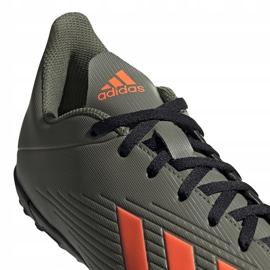 Buty piłkarskie adidas X 19.4 Tf zielone EF8370 szare 3