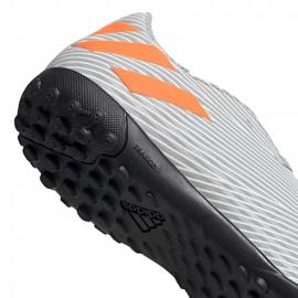 Buty piłkarskie adidas Nemeziz 19.4 Tf Jr szare EF8306 wielokolorowe 4