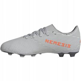 Buty piłkarskie adidas Nemeziz 19.4 FxG Jr szare EF8305 wielokolorowe 2