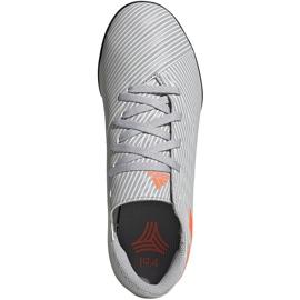 Buty piłkarskie adidas Nemeziz 19.4 Tf Jr szare EF8306 wielokolorowe 1