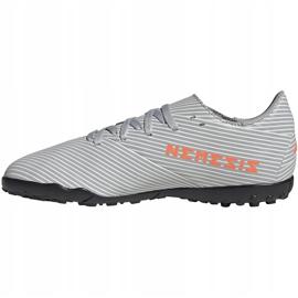 Buty piłkarskie adidas Nemeziz 19.4 Tf Jr szare EF8306 wielokolorowe 2