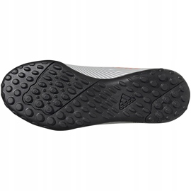 Buty piłkarskie adidas Nemeziz 19.4 Tf Jr szare EF8306 wielokolorowe 6