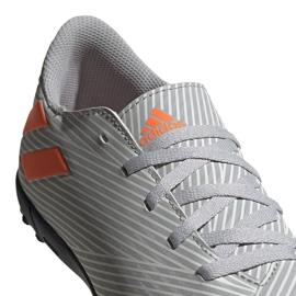 Buty piłkarskie adidas Nemeziz 19.4 Tf Jr szare EF8306 wielokolorowe 3