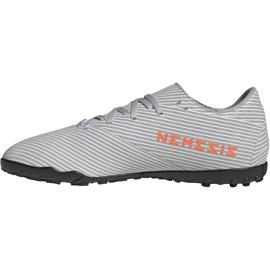 Buty piłkarskie adidas Nemeziz 19.4 Tf szare EF8294 wielokolorowe 2