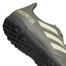 Buty piłkarskie adidas Predator 19.4 Tf Jr EF8222 zielone wielokolorowe 4