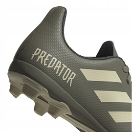 Buty piłkarskie adidas Predator 19.4 FxG Jr EF8221 wielokolorowe szare 4
