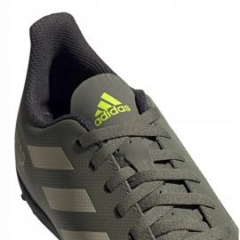 Buty piłkarskie adidas Predator 19.4 Tf Jr EF8222 zielone wielokolorowe 3