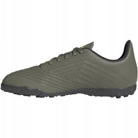 Buty piłkarskie adidas Predator 19.4 Tf Jr EF8222 zielone wielokolorowe 2