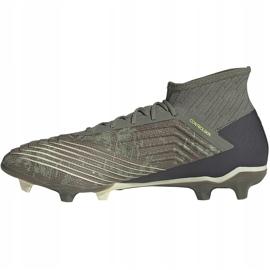 Buty piłkarskie adidas Predator 19.2 Fg EF8207 zielone wielokolorowe 2
