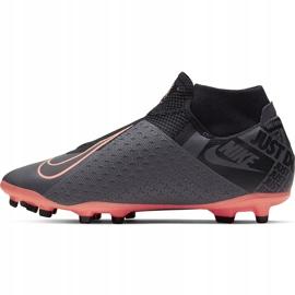 Buty piłkarskie Nike Phantom Vsn Academy Df FG/MG AO3258 080 szary, różowy szare 2