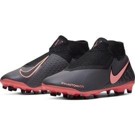 Buty piłkarskie Nike Phantom Vsn Academy Df FG/MG AO3258 080 szary, różowy szare 3
